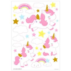 Autocollant mural Unicorn Gold Little Lovely