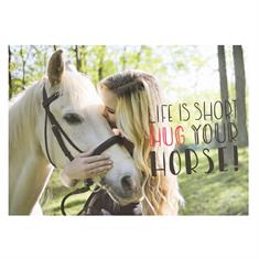 Carte Postale Hug Your Horse