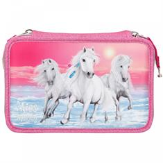 Trousse 3-Compartiments Glitter Pink Miss Melody